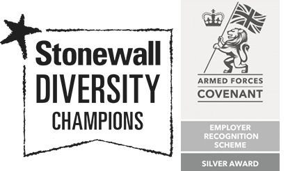 Stinewall champion and Armed Forces Logos